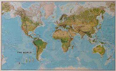 Physikalische bzw geografische weltkarten hier gibt es eine grosse